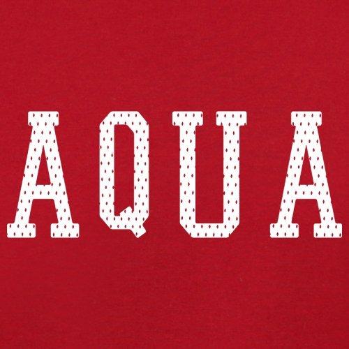 Justice Aqua College Style - Herren T-Shirt - 13 Farben Rot