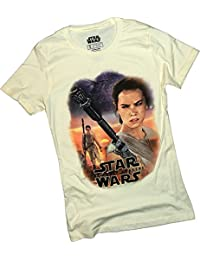 Star Wars Ep VII: The Force Awakens -- Rey Scenic Collage Juniors T-Shirt