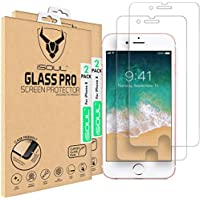 ISOUL [4 Pack] Screen Protector For iPhone 8, iPhone 7, Shatterproof Tempered Glass Anti-Shatter Film 3D Touch Compatible/Ultra Strong / 0.28mm Thickness / 9H Hardness/Ultra HD Crystal Clear