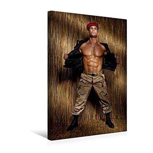 Calvendo Premium Textil-Leinwand 30 cm x 45 cm hoch, Adonis   Wandbild, Bild auf Keilrahmen, Fertigbild auf echter Leinwand, Leinwanddruck: Kraftvoller Männerkörper Menschen Menschen
