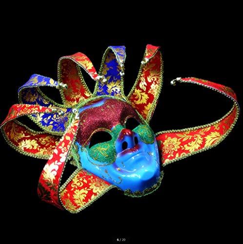 Maske Maske Fancy Dress Party Vollgesichtsmaske Kunststoffkugelmaske Kann Verschiedene Formen von Abschlussballmasken vervollständigen Gesichtsmaske (Farbe : 7 Angles)