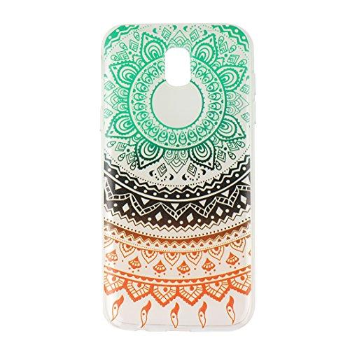 Étui Galaxy J3 2017, Coque Galaxy J3 2017, Moon mood® Transparente Protable Housse pour Samsung Galaxy J3 2017 Arrière Étui de Protection Souple TPU Silicone AntiChoc Cas Couverture Soft Case Bumper C 3PCS -1