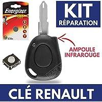 Caja para llave CLEPLIP–Renault Espace Twingo Clio Laguna SAFRANE Megane Scenic + pila CR2016Energizer