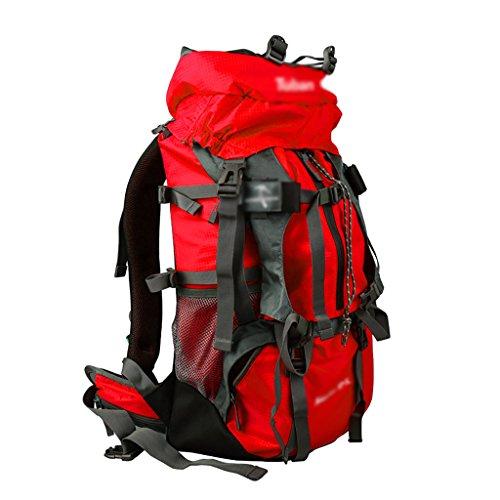 zaino trekking Outdoor Zaino Sport alpinismo Uomini borsa e Donne Travel Tracolla grande capienza viaggio zaino 50 +5 L Zaini da escursionismo ( Colore : Rosso ) Rosso