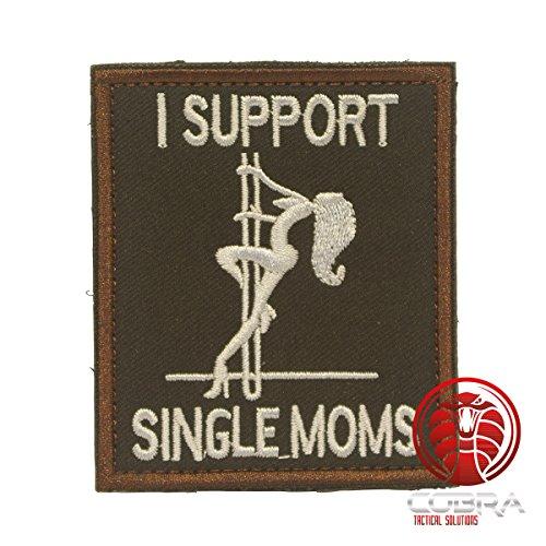 Cobra Tactical Solutions I Support Single Moms Besticktes Patch mit Klettverschlussrückseite