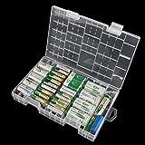NUOLUX Boîte de rangement transparente AAAAA C D 9V batterie en plastique dur cas titulaire