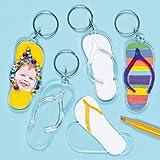 """Schlüsselanhänger """"Flipflops"""" - zum Basteln von Schmuck für Kinder ideal auch für Taschen (6 Stück)"""