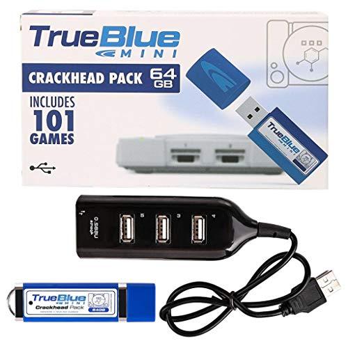 Preisvergleich Produktbild Kcibyvx 64 GB True Blue Mini-Crackhead-Meth-Pack für PlayStation Classic-Spiele und Zubehör 101 und 58 Spiele V1