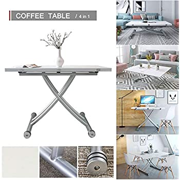 Jeffordoutlet Dining Party Table Lift Up Modern Shape
