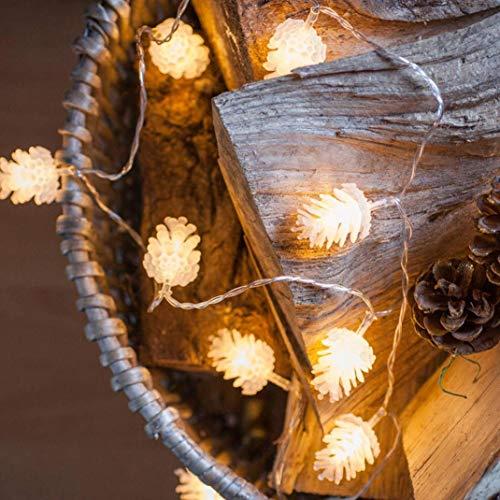 Lichterkette kugeln,FeiliandaJJ 2/3M 20/30pcs Tannenzapfen Dekoratives Licht Wasserdicht LED-Lichterkette LED Licht Hochzeit Party Halloween Xmas Innen/Außen Haus Deko String Lights (2M(20pcs)) -