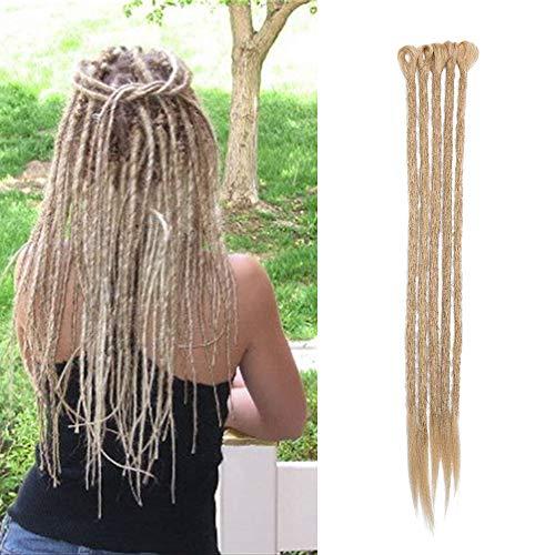 Sego dreadlock extension rasta [biondo cenere] 5 pezzi treccia dread da donna capelli lunghi sintetici braiding hair fibre uncinetto 50cm 20 inch