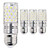 Hzsane E27 LED maíz bombilla, 12W, 6000K blanco frío LED bombillas, 100W incandescente bombillas equivalentes, 1200lm, Edison tornillo cilíndrico bombillas, 4-pack