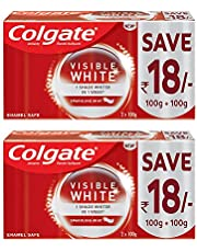 Colgate Visible White Dazzling White Toothpaste, Sparkling Mint - 200gm (Pack of 2)