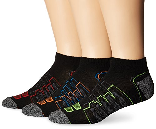 New Balance Performance Low Cut Socken, 3er-Pack, Unisex Herren, Black/Red/Orange/Green/Blue, Men's 9-12.5 (New Balance-performance)
