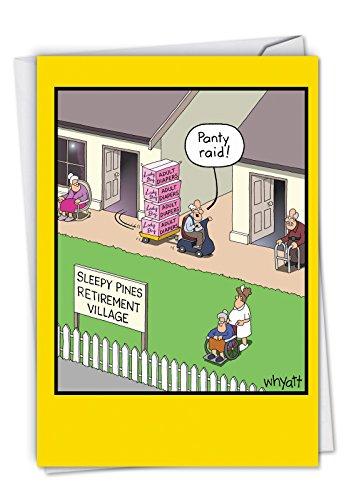 p-s-bd-ct2Geburtstag Grußkarten C6394BDG Panty Raid - Band Panty