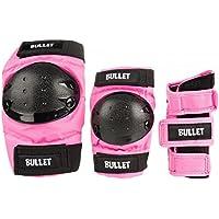Set protezioni skateboard Bullet Combo Standard Padset Junior - Pink (LRG 9-12 anni) - Pink Junior Set
