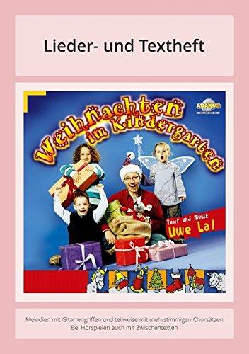 Buchcover Weihnachten im Kindergarten: Lieder- und Textheft: 24 Seiten · A5 Heft · Melodien und Text mit Gitarrengriffen und Spielanleitungen