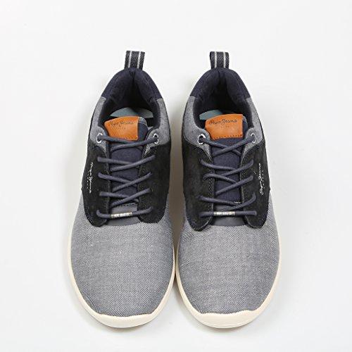 Pepe Jeans London Herren Jayden Fabric Sneaker Blau (Marine)