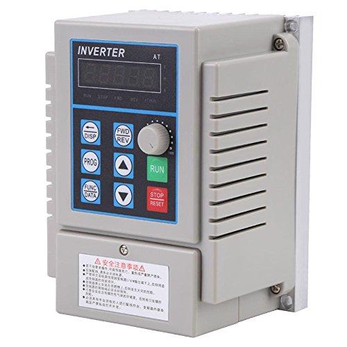 Frequenzumrichter 0.75KW, Bewinner 1pc AC 220V Frequenzumrichter VFD-Drehzahlregler-Inverter-Single-Phrase, schneller Start und Stop-Reaktion -