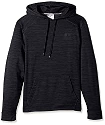 Champion Mens Premium Performance Fleece Pullover Hoodie, Stealth Heather/Black, Small
