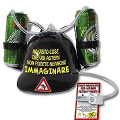Idea Regalo - Casco porta lattine augurale per bere a mani libere