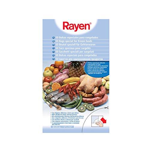 Rayen 6013 - Pack de 50 bolsas para congelados, para todo tipo de alimentos