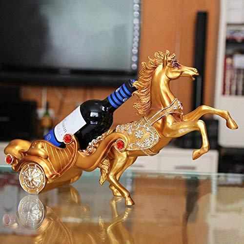 Eeayyygch Decoración del Estante del Vino artesanías de Resina Carros de Caballos...