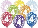 Luftballon 4.Geburtstag bunt gemischt Partydeko
