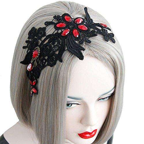 Preisvergleich Produktbild Aiklin Damen Haarreifen Blumen Spitze Breite Haarband