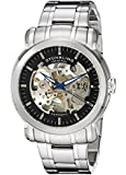 Stuhrling Original Legacy Delphi Antium Men's Automatic Watch with Black Dial Analogue Display and Silver Stainless Steel Bracelet 387.33111