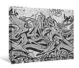 JP London bwcnv20995,1cm Dick Schwergewicht Schwarz & Weiß Galerie Wrap Leinwand Wand Art, Graffiti Street, Backstein, 2'x 1,5'