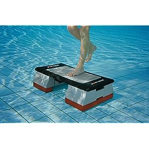 Sport-Thieme Aqua-Stepper | Steppbrett + Zusatzgewichte u. Gummistopfen | Für Aqua-Fitness u. Aqua-Gymnastik | 68x36x19 cm | Robuster Kunststoff | 13 kg | Markenqualität