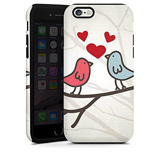 Apple iPhone 5 Housse Étui Protection Coque C½ur Oiseau Amour Cas Tough terne