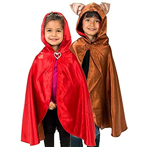 Little Red Riding Hood / Wolf Costume - Luxury Handmade Kids Red Riding Hood Fancy Dress Cape (3-8 yrs) Lucy Locket