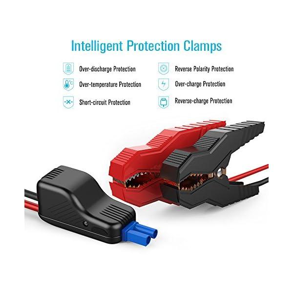 dbpower – arrancador portátil de emergencia para coche, 800A, 18000mAh, carga de batería de coche, batería externa y carga de teléfono con linterna incorporada de emergencia LED y doble puerto USB
