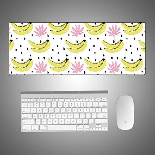 Cartoon Sommer Obst kleine frische mauspad kreative niedlichen Student kreative rutschfeste mauspad Pulver Blatt Banane 900 * 400 * 4mm -
