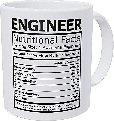 tassen Wampumtuk Ingenieur Nährwertangaben Funny Coffee Mug 11 Unzen Inspirational And Motivational