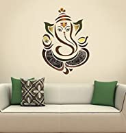 Decals Design 'Modern Elegant Ganesha God' Wall Sticker (PVC Vinyl, 50 cm x 70 cm, Mult