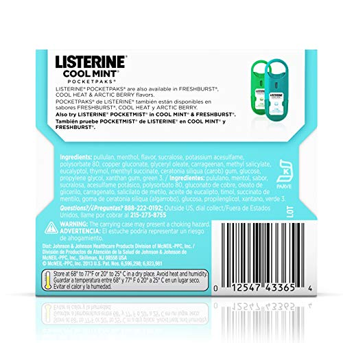 Listerine  Pocketpaks Atem Strips Cool Mint 24 Stück (12er-Pack) - 7