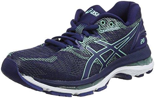 Asics Gel-Nimbus 20, Zapatillas de Entrenamiento para Mujer, Azul (Indigo Blue/Indigo Blue/Opal Green 4949), 39 EU
