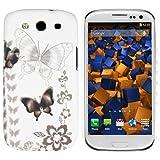 mumbi Hybrid Hülle Samsung Galaxy S3 Schutzhülle Schmetterling Butterfly