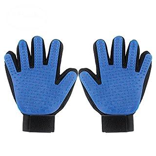 Addfun Haustier Bürste Handschuh, reg;Hund Pflegen Handschuh Sanft und Effizient Handschuh Haarentferner Bürste Saubere Massage Handschuhe(2 PCS,rechts+linke Hand)