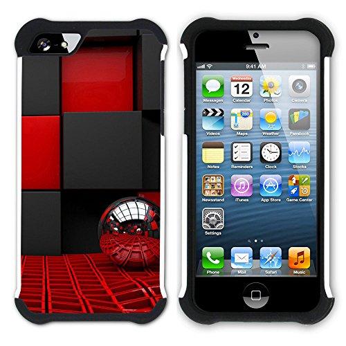 Graphic4You Black Music Piano Design Hart + Weiche Kratzfeste Hülle Case Schale Tasche Schutzhülle für Apple iPhone SE / 5 / 5S Design #17