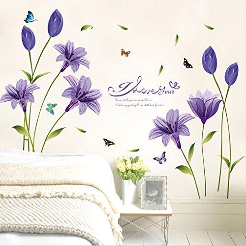 Wallpaper Hintergrund Wandaufkleber Selbstklebende Eingang zum Veranda-Dekor (Purple-bibel)