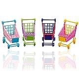 Rocita Mini Einkaufswagen Supermarkt Handkarren Shopping Utility Cart Mode Lager Spielzeug