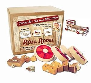 Roll Rodel Bausatz - Tuning Set für alle Holzschlitten / Räder für Schlitten...