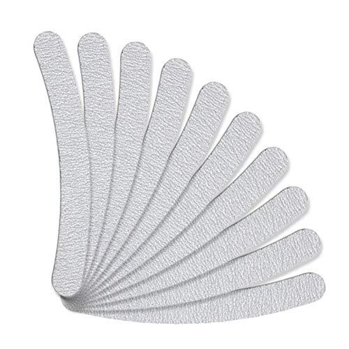 Weimay 10-Pack Nail Files Doble cara de papel de lija Emery lavable (100/180 Grit) - Blanco