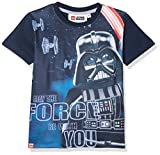 Lego Wear Jungen T-Shirt Lego Boy Star Wars M-72367-T-SHIRT S/S, Blau (Dark Navy 589), 9 Jahre