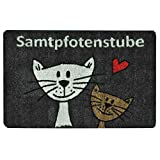 deco-mat Fußmatte Katze – Fussmatte Innen, Rutschfest, waschbar – Schmutzfangmatte - Fussabtreter - Türmatte 40x60 cm