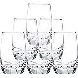 Ocean Charisma Hi Ball Glass Set, Set of 6, 415ml, Transparent